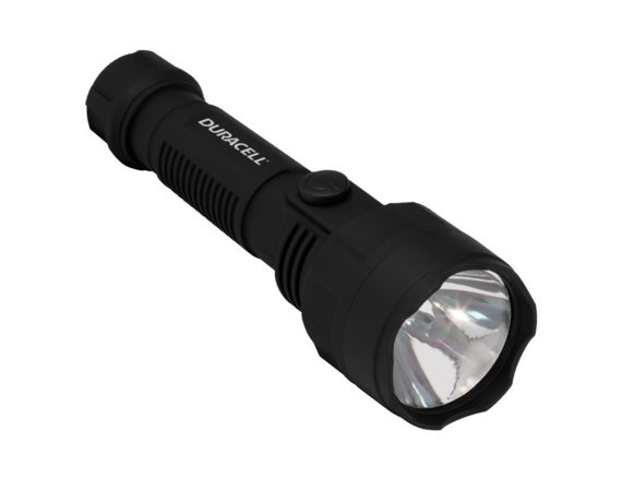 Duracell Latarka LED VOYAGER OPTI-1, gumowy grip + 2x AA