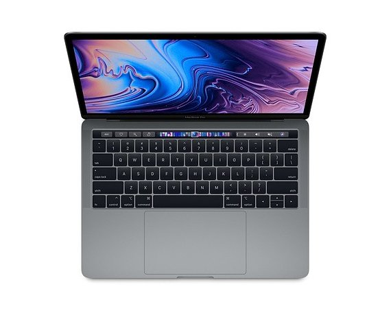 Apple 13 MacBook Pro Touch Bar: 1.4GHz quad-core 8th Intel Core i5/16GB/512GB - Space Grey MXK52ZE/A/R1