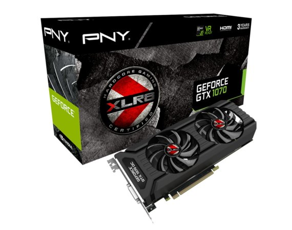 PNY GeForce GTX 1070 XLR8 OC GAMING DUAL FAN