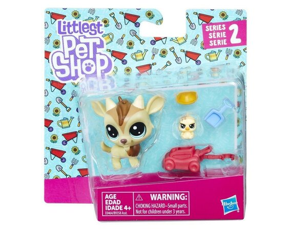 Figurki Littlest Pet Shop Para zwierzaków Quincy Goatee & Chickles Scrapper