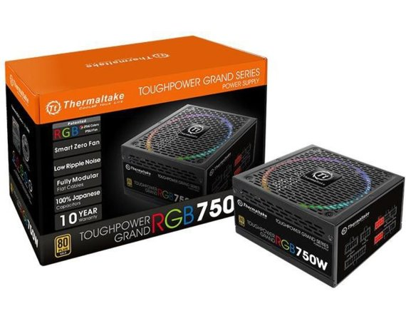 Thermaltake Toughpower Grand RGB 750W Modular (80+ Gold, 4xPEG, 140mm)