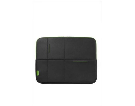 "Samsonite AIRGLOW SLEEVES LAPTOP SLEEVE 15.6"" CZARNY/ZIELONY"