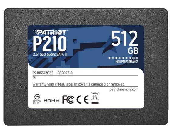 Patriot Dysk SSD 512GB P210 520/430 MB/s SATA III 2.5