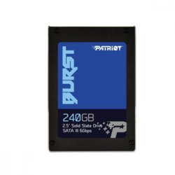"Patriot SSD Burst 240 GB 2.5"" SATA III R: 555MB/s W: 500MB/s"