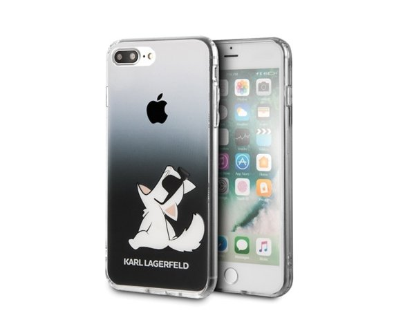 Karl Lagerfeld Etui Hardcase iPhone 7/8 Plus czarny Choupette Fun