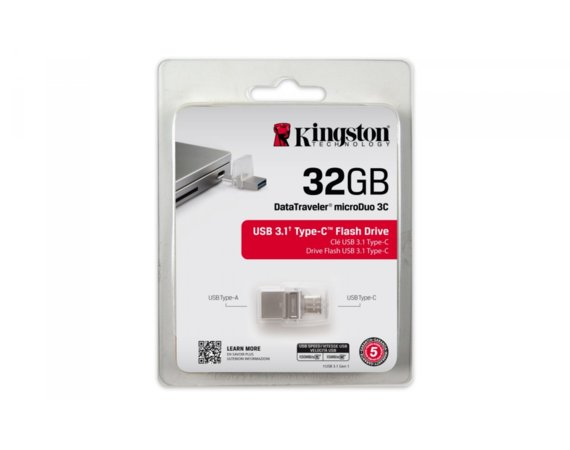 Kingston Data Traveler MicroDuo 3C 32GB USB 3.1 Gen1