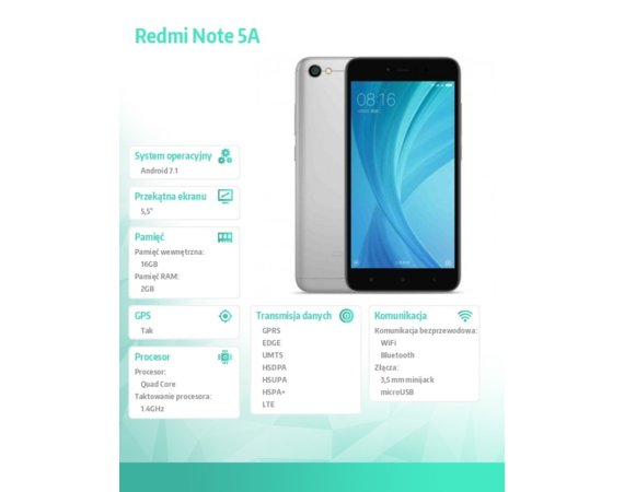 XIAOMI Redmi Note 5A Black 2/16GB