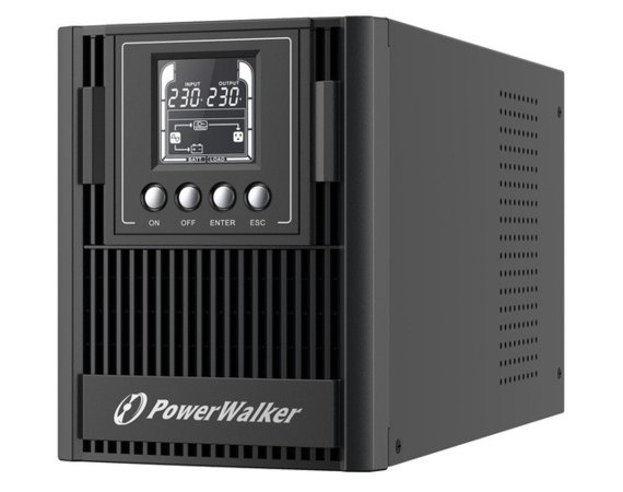 PowerWalker UPS ON-LINE 1000VA AT 3X FR OUT, USB/RS-232, LCD, TOWER, EPO