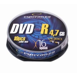 Esperanza DVD-R 4,7GB x16 - Cake Box 10