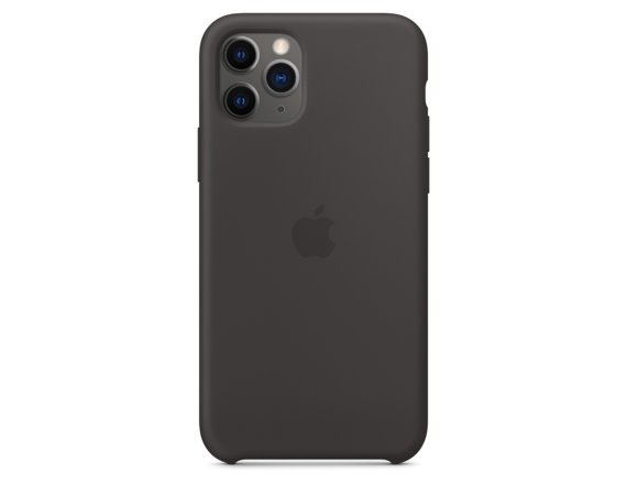 Apple Silikonowe etui do iPhone 11 Pro Max - czarne