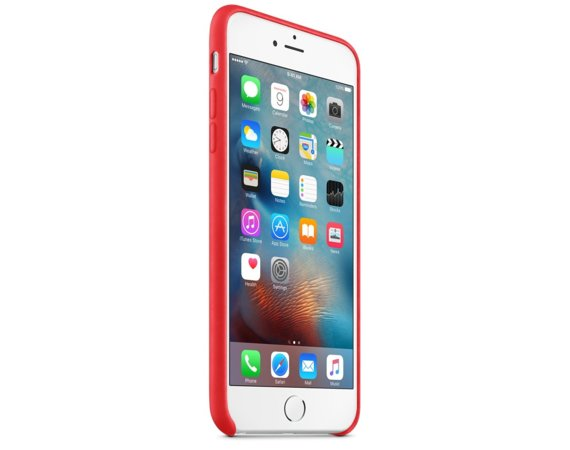 Apple Skórzane etui do iPhone'a 6s Plus czerwone
