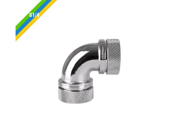 Thermaltake Pacific G1/4 x 16mm 90 złączka adapter kątowy - Chrome