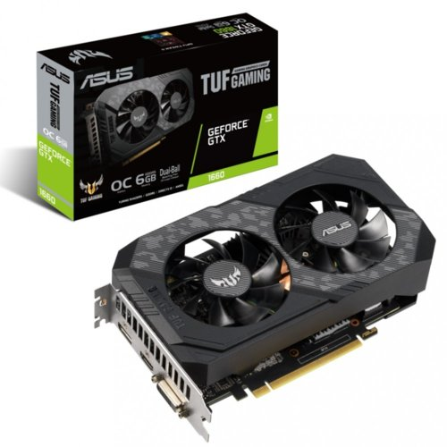Asus Karta graficzna GeForce GTX 1660 TUF GAMING OC 6GB 192BIT GDDR5 HDMI/DVI-D/DP