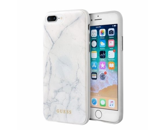 GUESS GUHCI8LHYMAWH hardcase iPhone 7/8 Plus biały