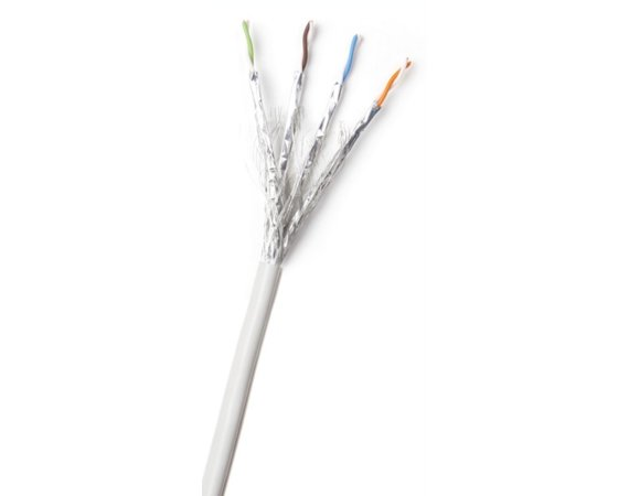 AT&T Cabling 4 PARY S/FTP KAT6A SZARY KABEL 500M PVC