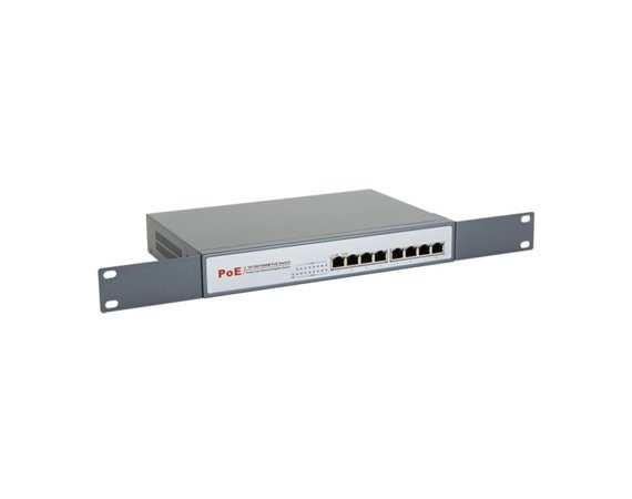 "8level GEPS-1808 Switch Rack PoE (8xGE PoE-af, 130W, 1U, 19"")"