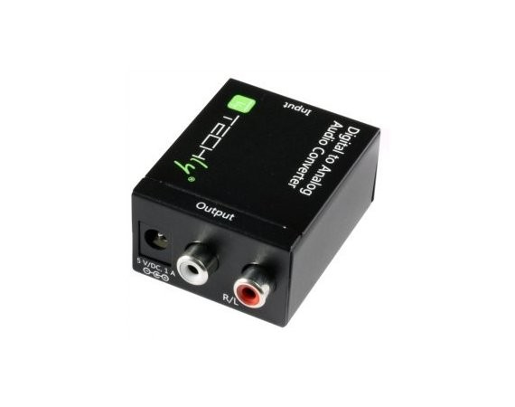 Techly Konwerter cyfrowy Toslink SPDIF, coaxial audio na analog stereo RCA L/R