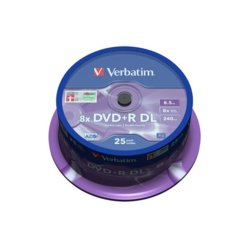 Verbatim DVD+R 8x 8.5GB 25P CB Double Layer 43757