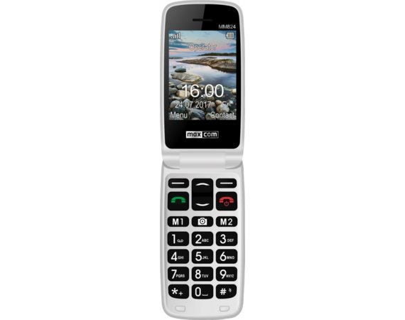 Maxcom MM824BB CZERWONY Poliphone/Big button