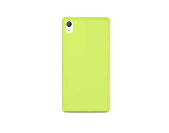 PURO Ultra Slim 0.3 mm etui + folia Xperia Z3 lemon