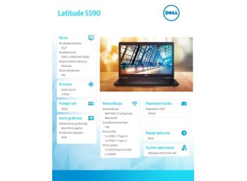 "Dell Latitude 5590 Win10Pro i5-8350U/512GB/16GB/Intel UHD 620/15.6""FHD/KB-Backlit/4-cell/3Y NBD"