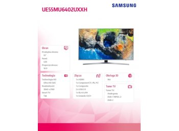 Samsung 55'' TV UHD LED UE55MU6402UXXH