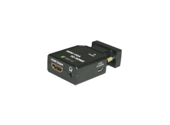 Techly Konwerter adapter VGA + 3,5mm audio na HDMI M/F