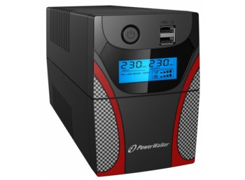 PowerWalker UPS Line-Interactive 850VA 2x PL 230V,RJ11 In/Out, USB, LCD, 2x  ładowarka USB