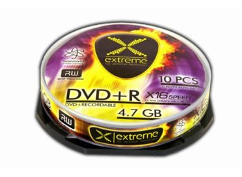 Extreme DVD+R 4,7 GB x16 - Cake Box 10