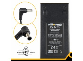 Whitenergy Zasilacz 19.5V | 6.15A 120W wtyk 6.5x4.4mm + pin Sony 04129
