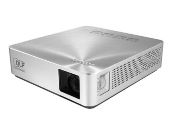 Asus S1 Projektor LED/DLP/WVGA/200AL/1000:1/2W speaker/HDMI/MHL/USB Port for Charge (1A@5V)/1.82kg/Silver