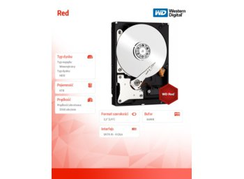 Western Digital Red WD60EFRX 6TB 64MB SATAIII 7200RPM