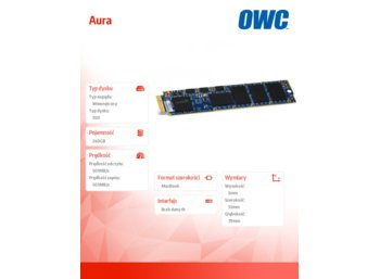 OWC Aura SSD 240GB Macbook Air 2012 (501/503 MB/s, 60k IOPS, Async-NAND)