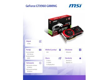 MSI GeForce CUDA GTX960 GAMING 2GB DDR5 128BIT DVI/HDMI/3DP