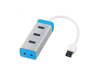 i-tec USB 3.0 Metal HUB 3 Port With Audio Adapter
