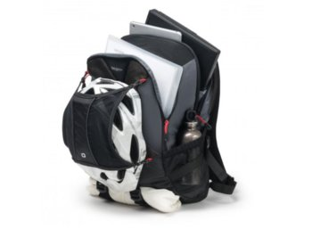 DICOTA Backpack Ride 14-15.6'' Black whit High Density Foam