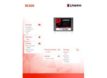 Kingston SSD KC400 SERIES 256GB SATA3 2.5' 7mm