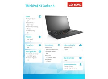Lenovo ThinkPad X1 Carbon 4 20FC0039PB