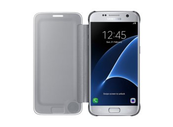 Samsung Clear View Cover Galaxy S7 Silver