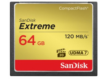 SanDisk Extreme CompactFlash 64GB 120/85 MB/s