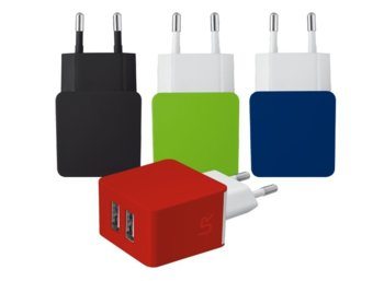 Trust UrbanRevolt 5W Wall Charger with 2 USB ports - black