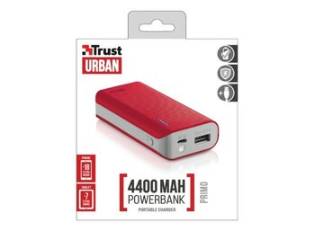 Trust UrbanRevolt Primo PowerBank 4400 Portable Charger - red