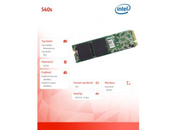 Intel 540s 120GB M.2 SATA 2280 560/480MB/s Reseller Pack