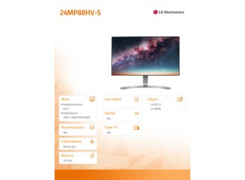 "LG Electronics 23.8"" 24MP88HV-S LED IPS HDMI"