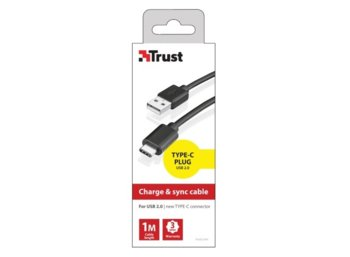 Trust USB2.0 Type-C to A CABLE 480MBPS 1M