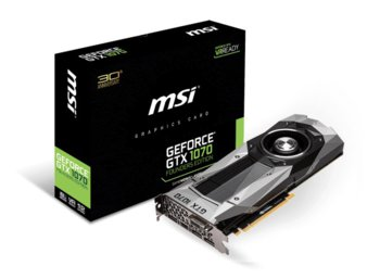 MSI GeForce CUDA GTX1070 8GB DDR5 256BIT DVI/HDMI/3DP BOX
