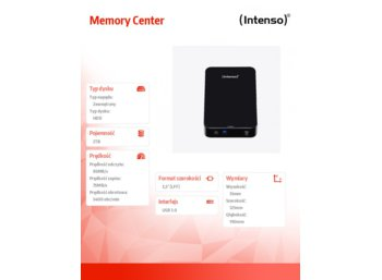 Intenso 2TB 3,5'' HDD USB 3.0 MEMORYCENTER Black
