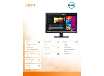 Dell 30'' UP3014 LED DVI-D DP mDP HDMI 3YPPG