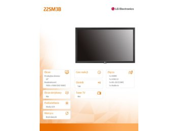 LG Electronics 22'' 22SM3B  250cd/m2 18/7 IPS