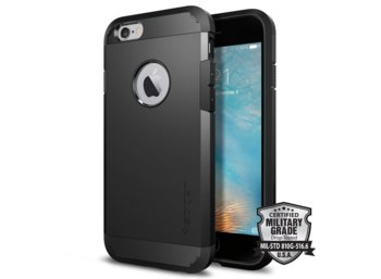 SPIGEN SGP   Tough Armor Black Etui iPhone 6/6S